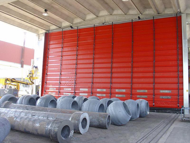 industrial high speed fold up door pack industry
