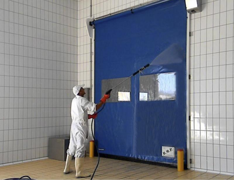 self-repairing high speed door food pe
