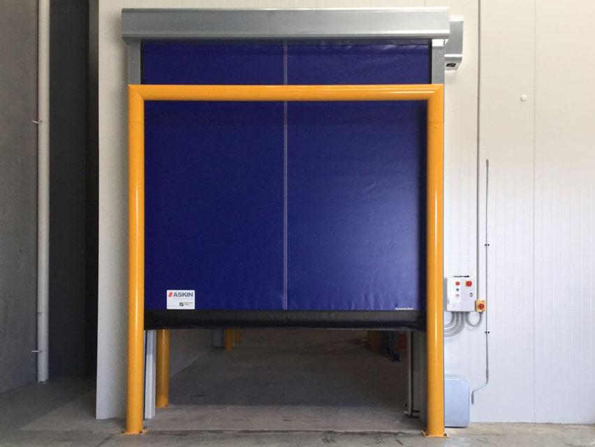 flexible high speed roll up freezer door for cold storage