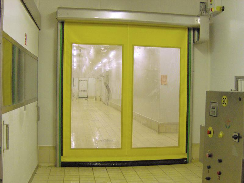 high speed door in pvc and steel food inox
