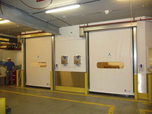 self-repairing high speed doors food inox