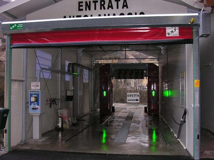self repairing high speed door for car wash