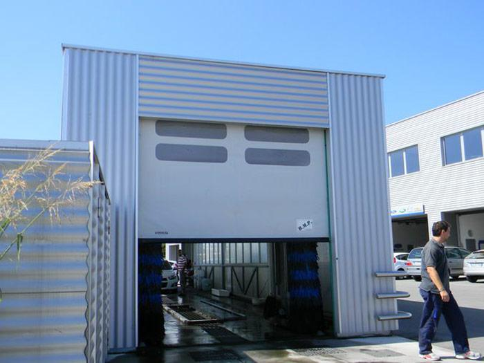 self-repairing pvc high speed door dynamicroll wash