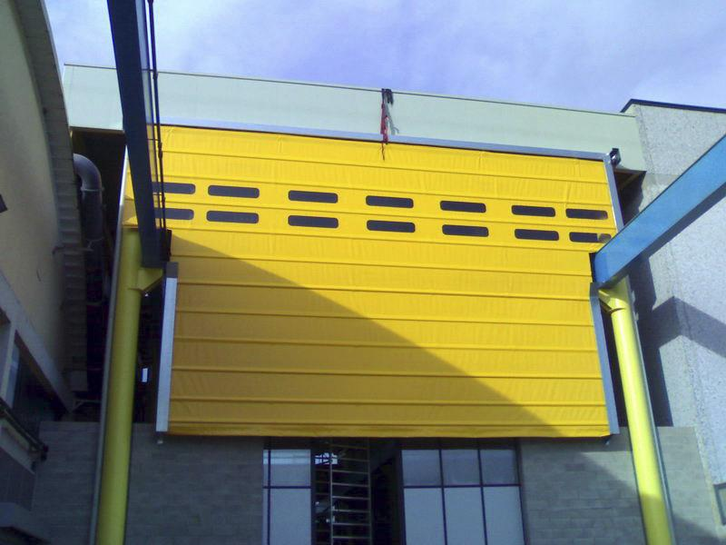 high speed fabric overhead door