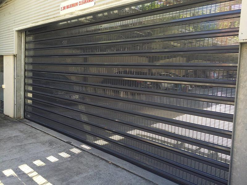 perforated roller shutter door air flow
