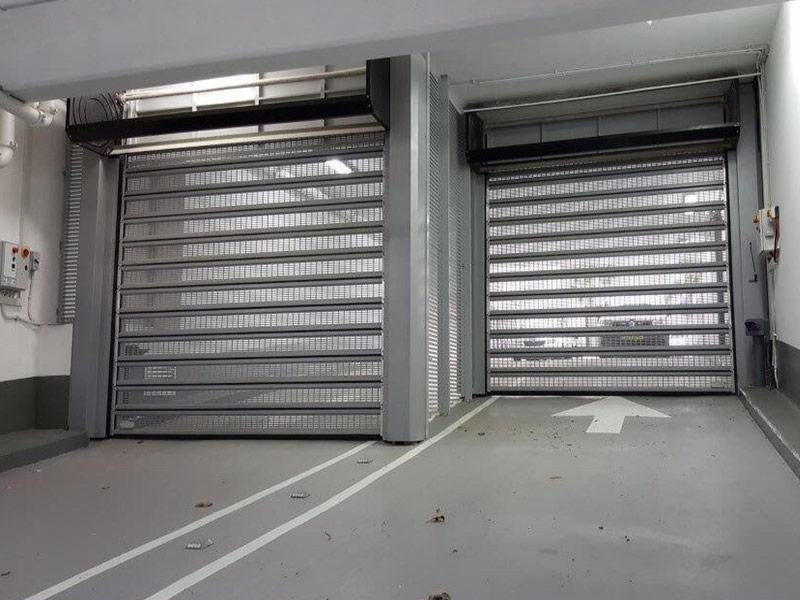 perforated shutter air flow car park