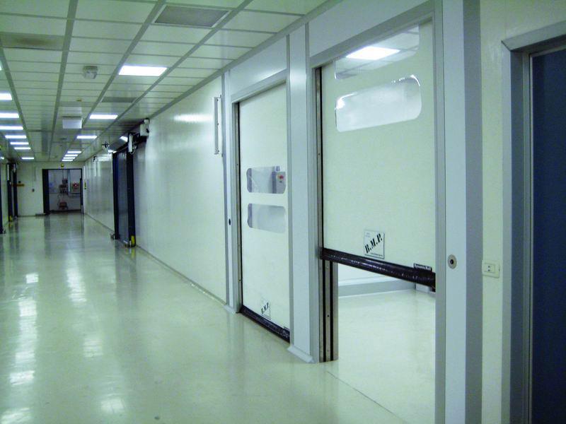 self repairing pvc doors clean rooms