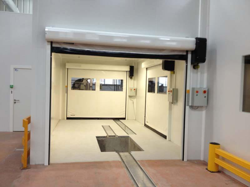 high speed flexible door in pvc clean rooms