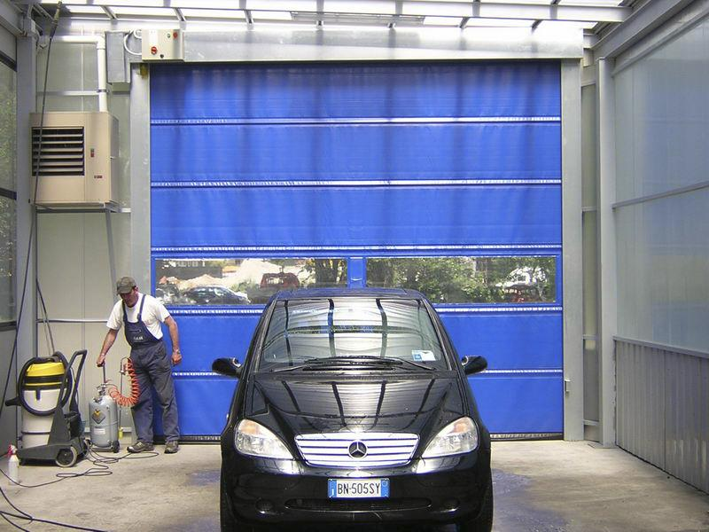 pvc high speed door for car washes dynamicroll wash