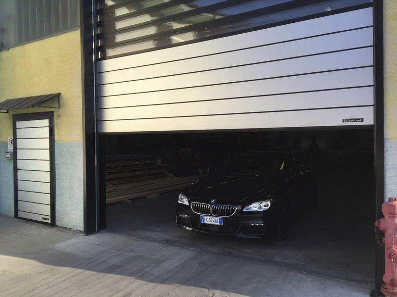 insulated industrial roll up door spiral Iso40
