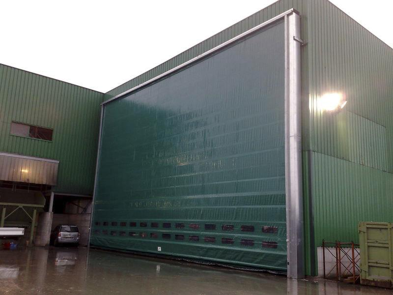 high speed fold up doors pack industry