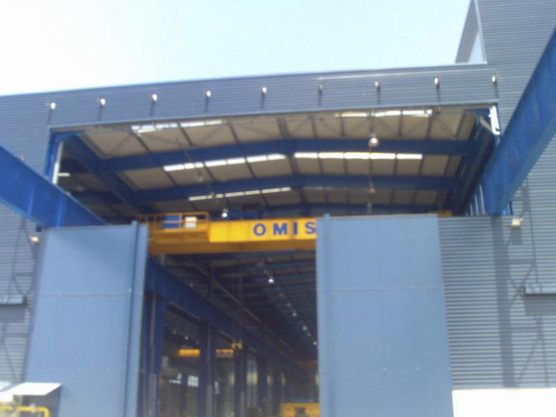 high speed fold up pack crane doors