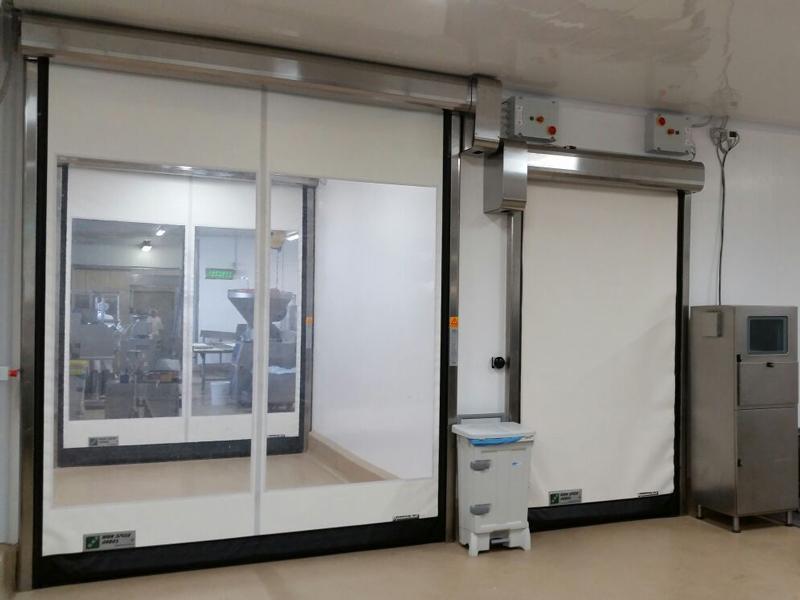 flexible high speed door in pvc Food Inox for food industry
