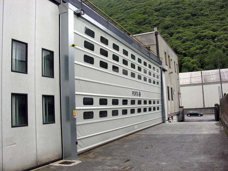 rapid fold up industrial door pack industry