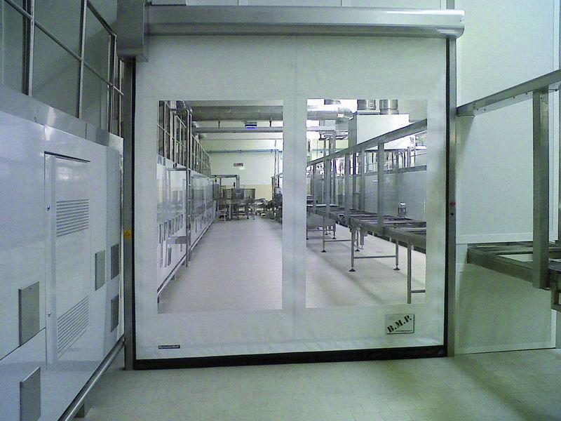 self-repairing pvc high speed door Food Inox for food industry