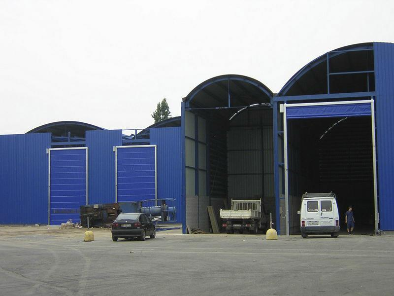 industrial fat acting fold up doors pack industry