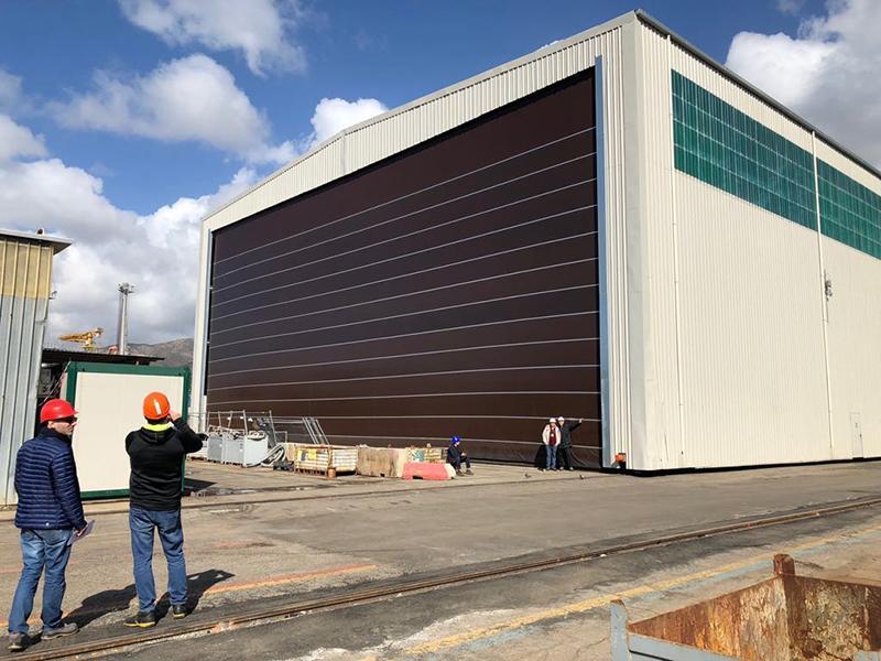 industrial fold up high speed door megapack