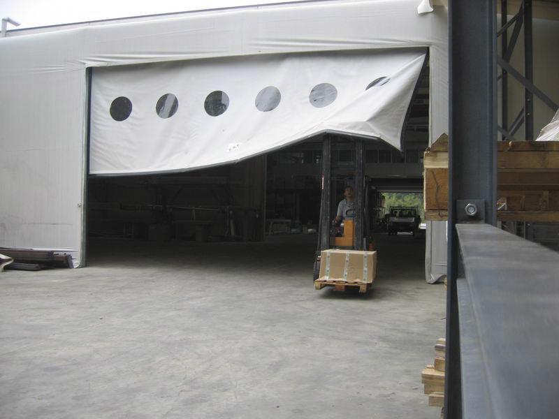 self-repairing pvc industrial door dinamycroll industry