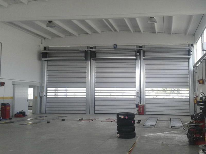 insulated industrial roll up doors Spiral Iso40
