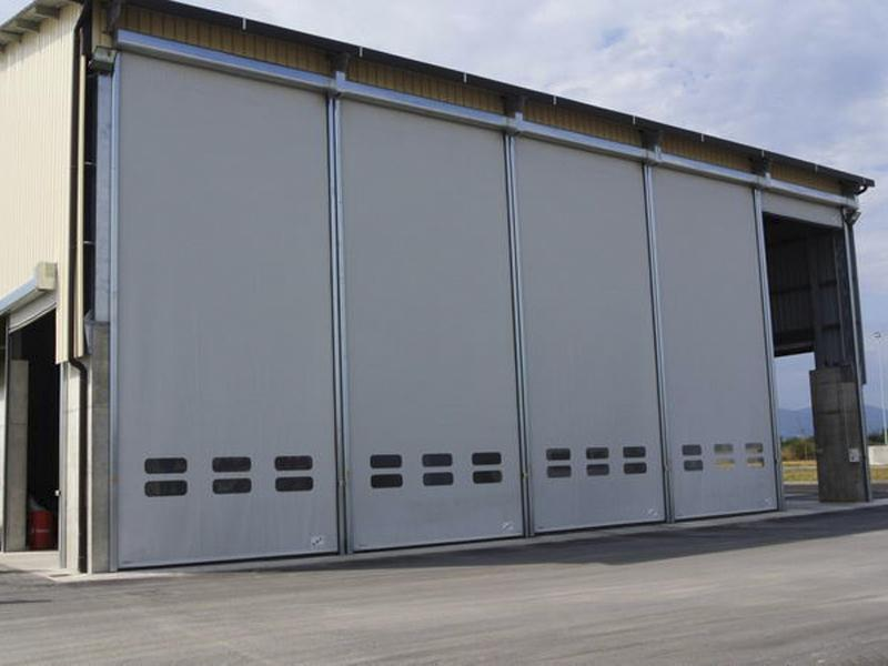 porte rapide autoriparanti per capannoni