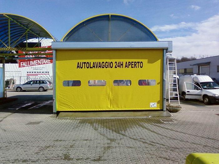 puerta auto-reparadora de alta velocidad dynamicroll wash