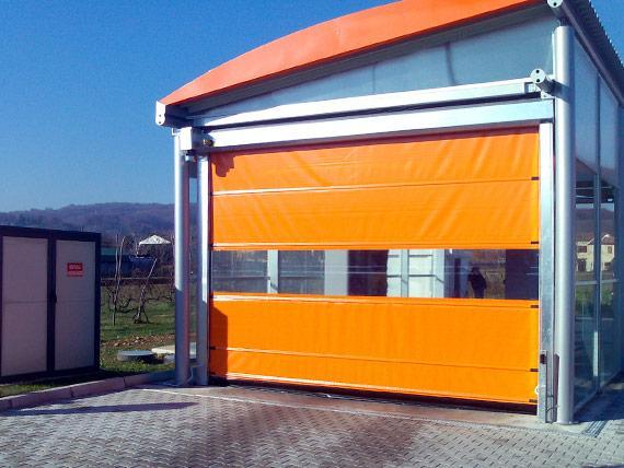 puerta enrollable de lona para lavado de coches
