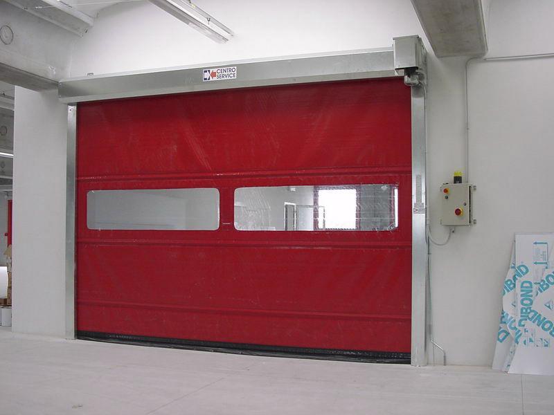 puerta rapida de lona roll