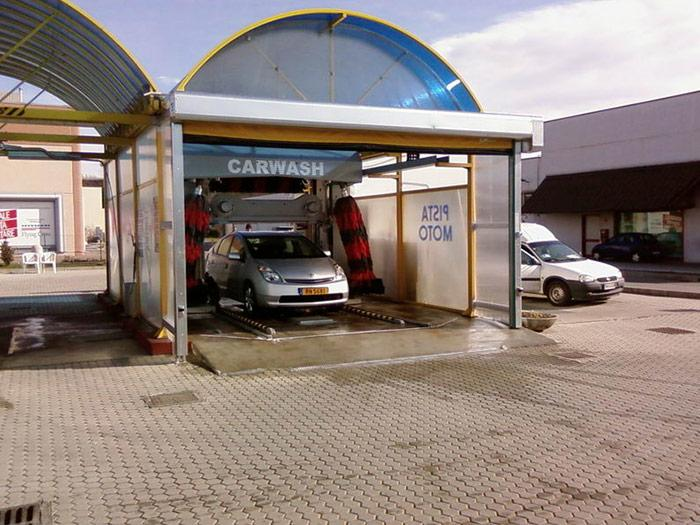 puerta rapida de pvc lavado de coches