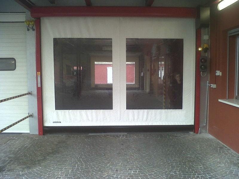 puertas de pvc de alta velocidad autorreparadoras salas limpias