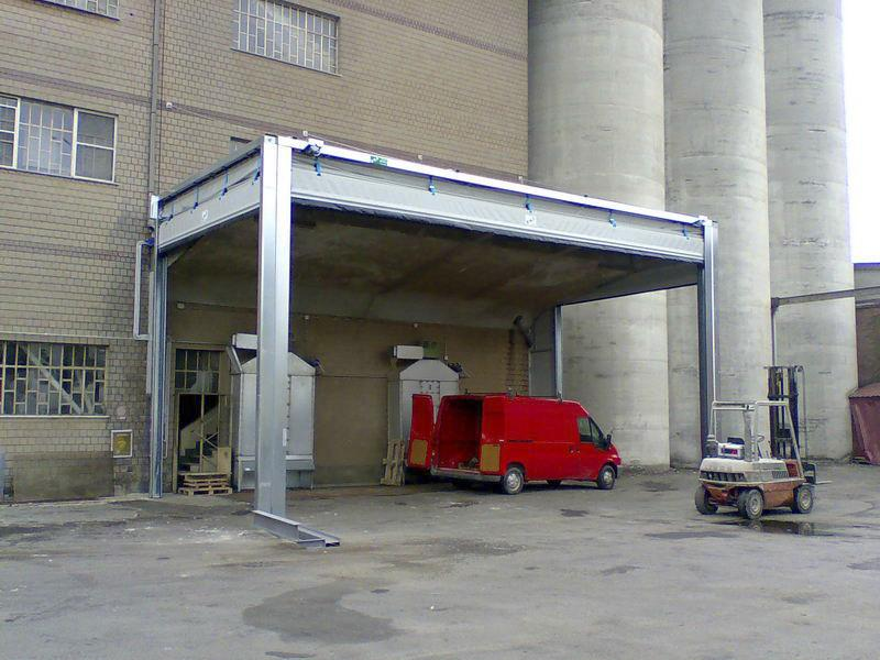 fold up pvc industrial high speed door pack industry