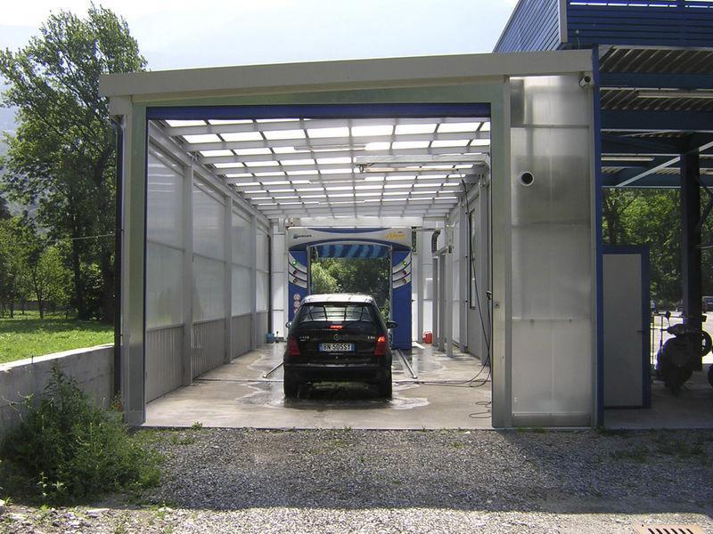 Puertas auto-reparadoras de lavado de coches